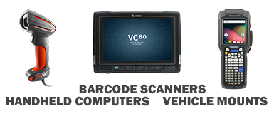 baroce scanners, handheld computers, and vehicle mount devices
