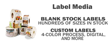 Rolls of custom 4 color process labels