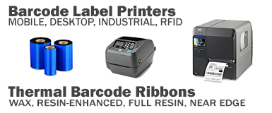 barcode label printer and ribbon types
