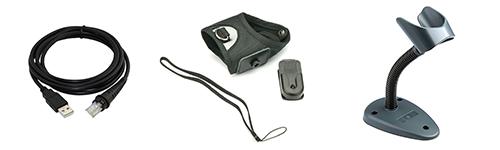 Different barcode scanner accessories