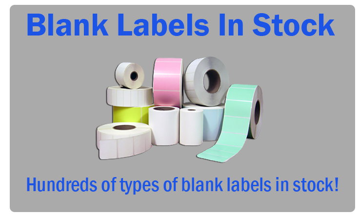 Rolls of blank stock labels